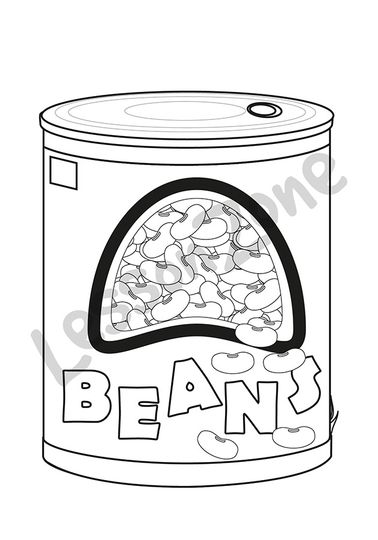Can of beans B&W