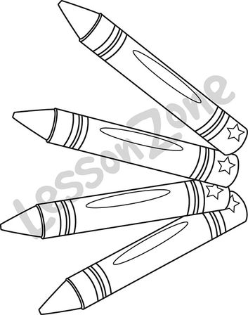 Crayons B&W