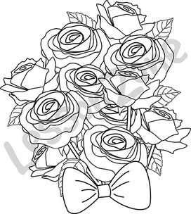 Bunch of roses B&W