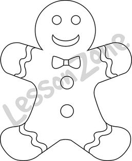 Gingerbread Man B&W