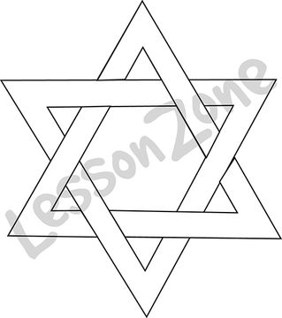 Hanukkah Star of David B&W