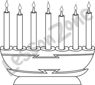 Kwanzaa candle holder B&W