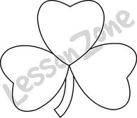 3-leaf clover B&W