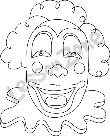 Clown B&W
