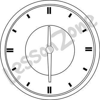 Clock face 1/2 hour B&W