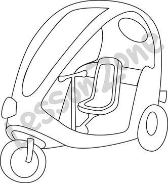 Pedicab B&W