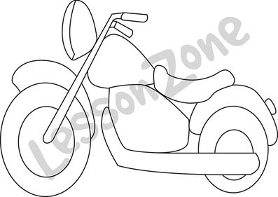 Motor bike B&W