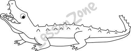 Crocodile B&W