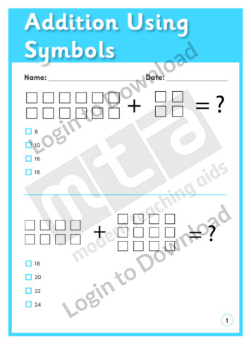 Addition Using Symbols 1