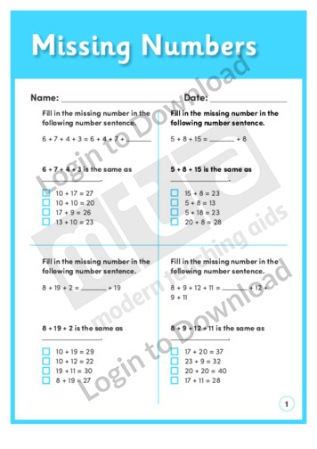 Missing Numbers (Level 2)