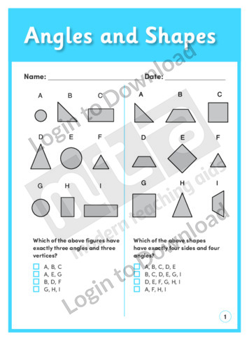 Angles and Shapes (Level 2)