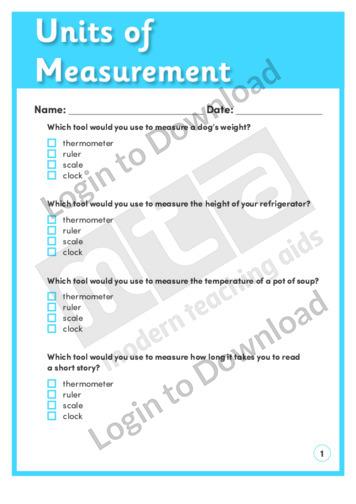 Units of Measurement (Level 2)
