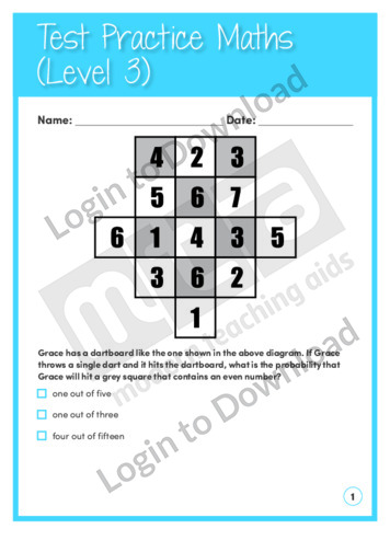 Test Practice Maths Level 3