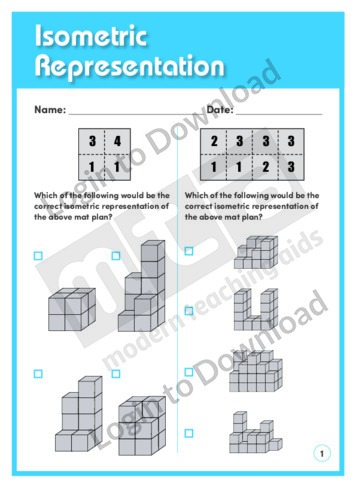 Isometric Representation 1