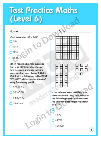 Test Practice Maths 2 (Level 6)