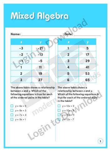 Mixed Algebra 1
