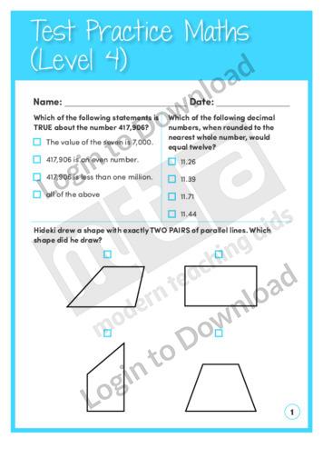 Test Practice Maths 4 (Level 4)