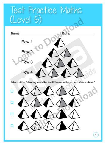 Test Practice Maths 1 (Level 5)