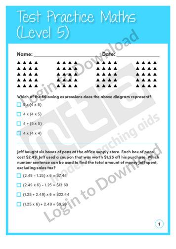Test Practice Maths 4 (Level 5)