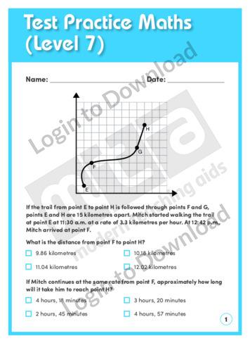 Test Practice Maths 2 (Level 7)