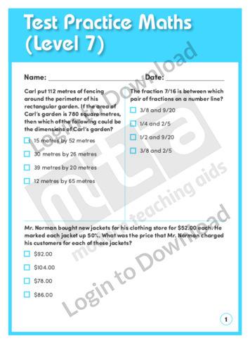 Test Practice Maths 4 (Level 7)