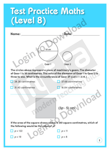 Test Practice Maths 2 (Level 8)