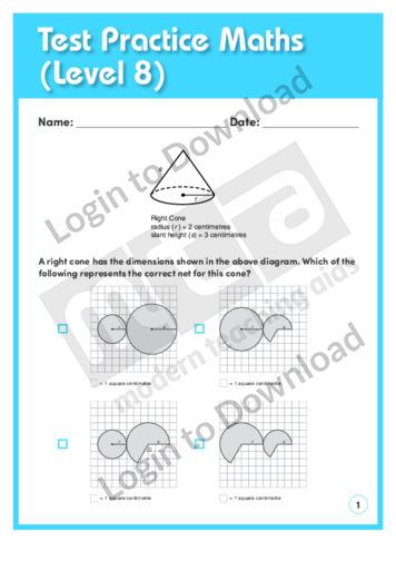 Test Practice Maths 3 (Level 8)