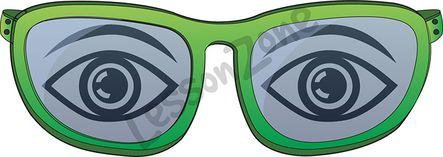 Eyes in glasses