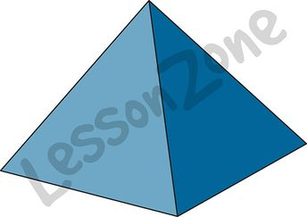 3D shape square-based pyramid
