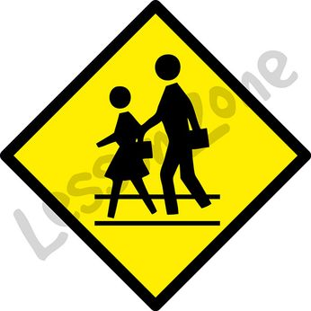 Crossing walk sign