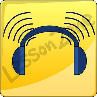 Listening classroom icons