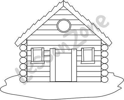 Log cabin B&W