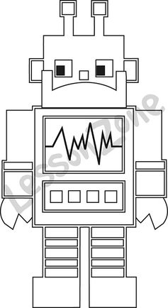 Robot B&W