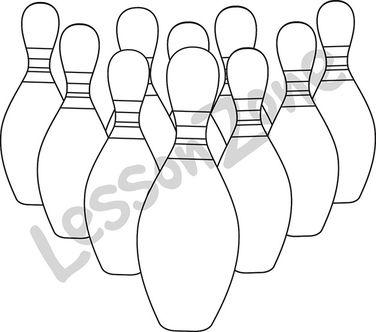 Bowling pins B&W