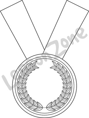 Bronze medal B&W