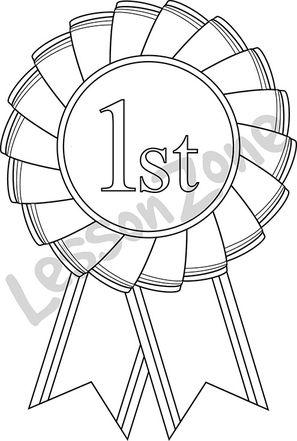 1st place rosette B&W