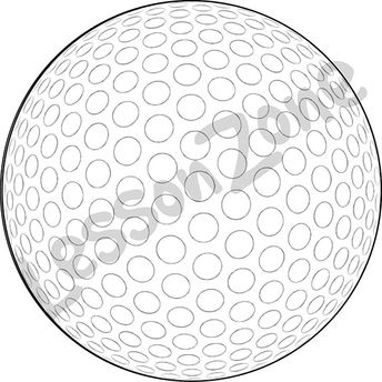 Golf ball B&W