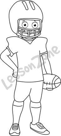 Football player  B&W