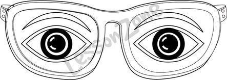 Eyes in glasses B&W