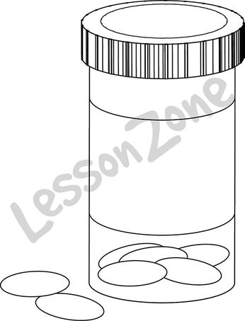 Pill bottle B&W