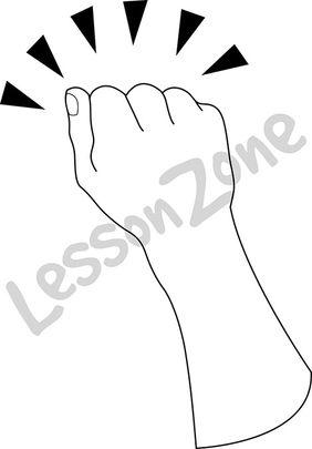 Hand knocking B&W