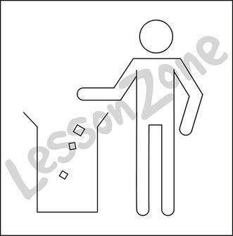 Litter sign B&W