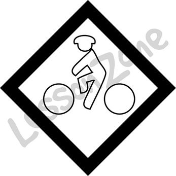 Bike lane sign B&W