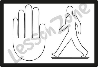 Crossing don't walk sign B&W