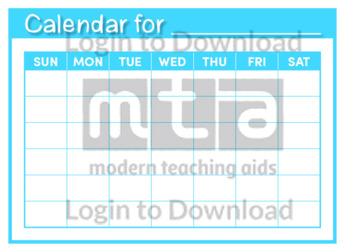 Calendar for… Template