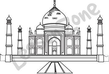 Taj Mahal B&W