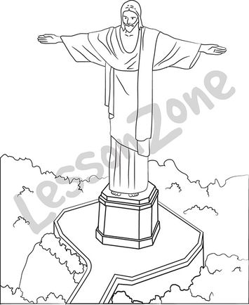 Christ on Corcovado B&W