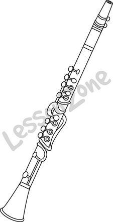 Clarinet B&W