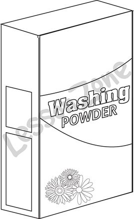 Box of washing powder B&W