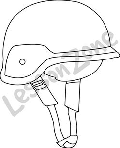 Bike helmet B&W